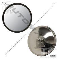 CONVEX MIRROR W/ L BRACKET 6IN S.STEEL