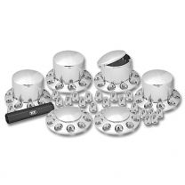 TRUX Complete Chrome ABS Plastic Axle & Nut Cover Kit